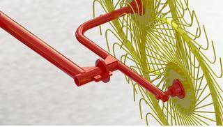 Диск сталь 6мм S-образная спица, пружинная сталь